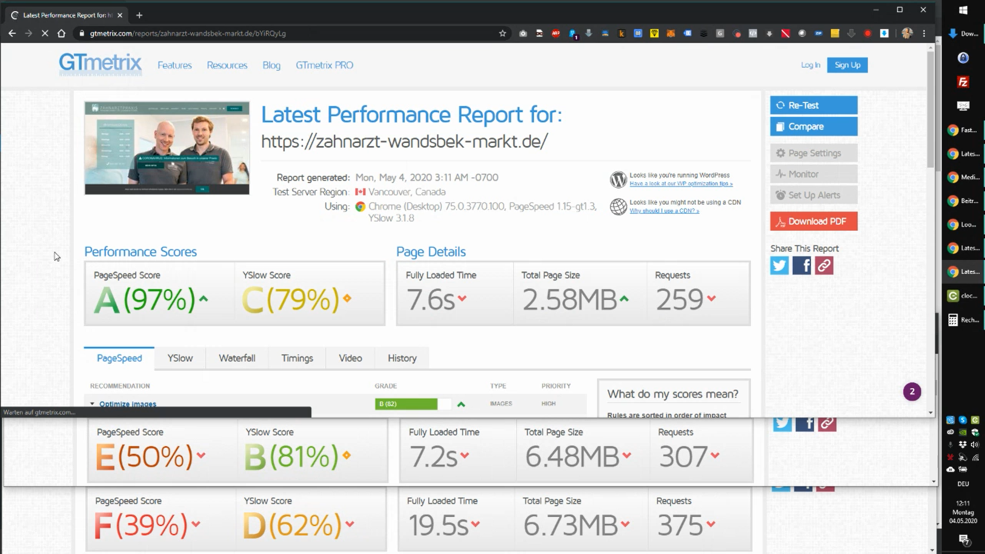 WordPress Performance Optimierung